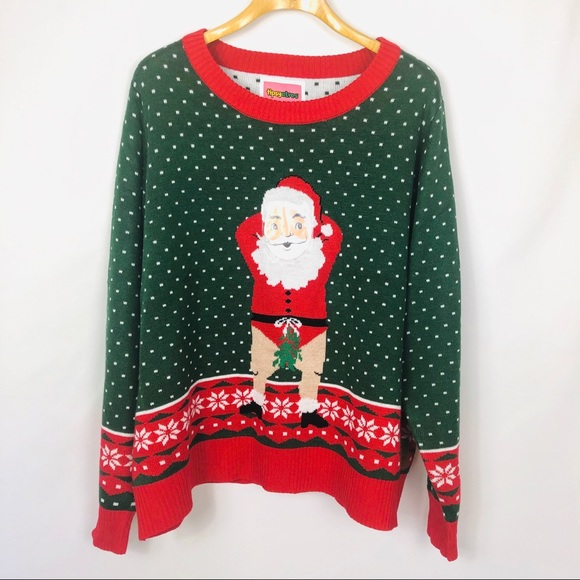 Tipsy Elves XXL Christmas Sweater Naughty Santa